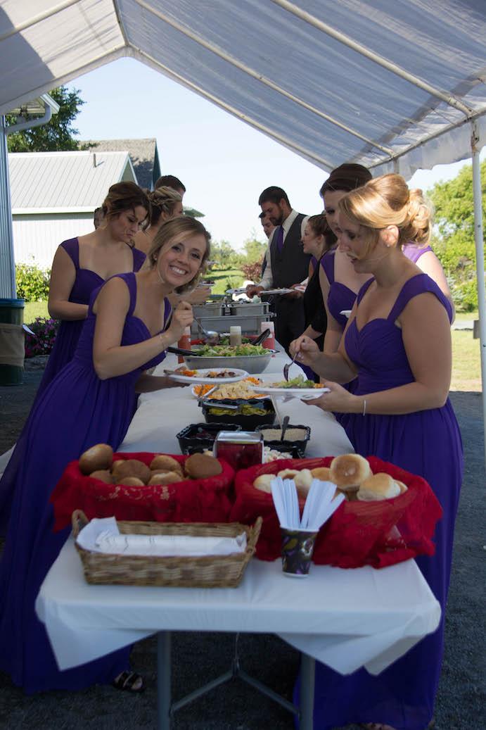 Outdoor wedding in Woodstock On